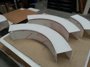 Image showing curved Polycarbonate Guarding