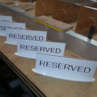 Reserved Signs Plastic Fabrication