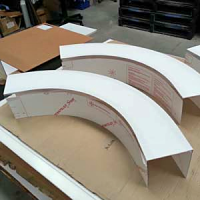 Polycarbonate Curved Guards