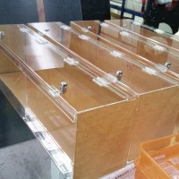 Lockable Perspex Containers